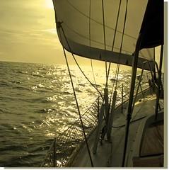 Into the light (♡ Popotito ♡) Tags: ocean light sunset sea luz southamerica mar bravo colombia sailing explore sail puestadesol vela cartagena navegando cartagenadeindias platinumphoto popotito