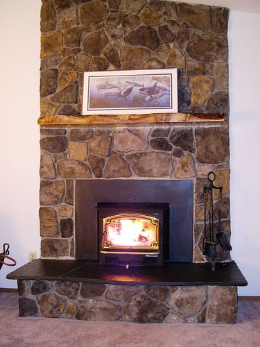 refacing brick fireplace submited images pic2fly