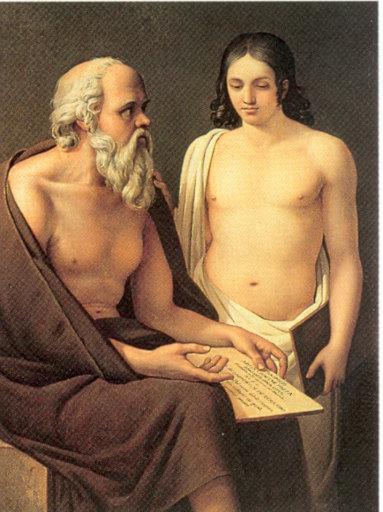 Socrates enseñando, de José Aparicio (1773-1838)