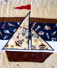 sailboat quilt boat