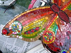 Butterfly wall hanging - close up 4 (stiglice - Judit) Tags: mosaique mozaiek mozaik