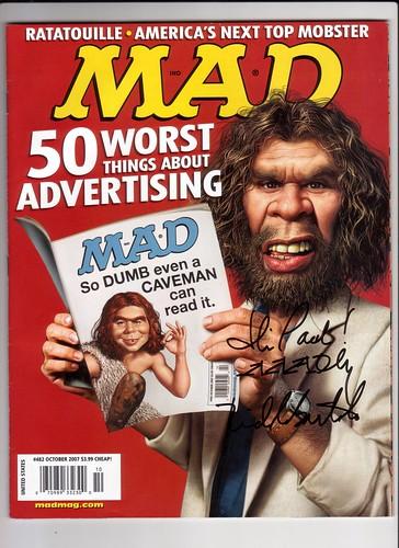 Signed Mad Magazine