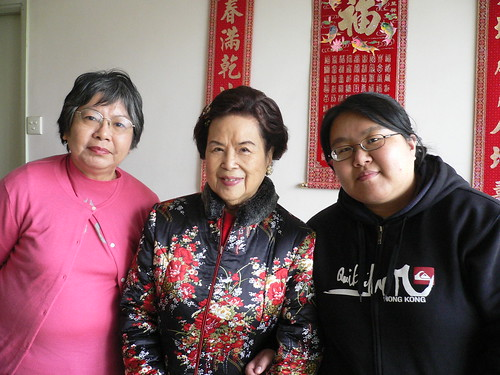 Mom, 6th Great Aunt and me