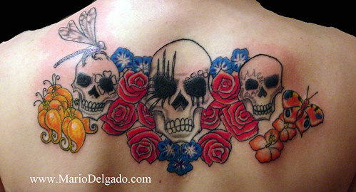 Tags back tattoo shoulder tattoo skull tattoo color tattoo