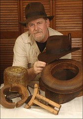 Steve Delk, creator of the Adventurebilt Fortune and Glory Fedora. (Mr. Sable) Tags: indianajones fedoa crystalskull adventurebilt stevedelk