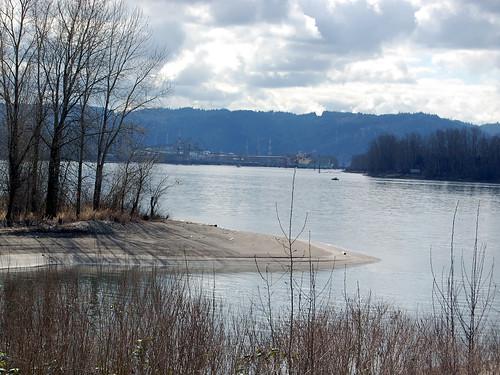 Columbia River in Winter