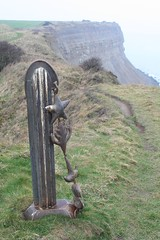 Marker Post Sculpture, Huntcliff