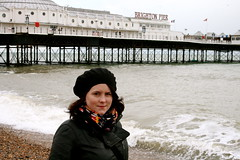 Chilly on Brighton beach