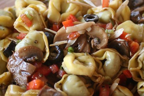 Mushroom and Tortelloni Salad