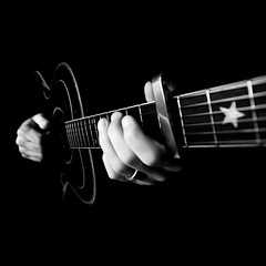 Guitare... (VeNiVi) Tags: blackandwhite music art photoshop star artist noiretblanc fingers jazz artists string groove strings soe musique artistes cordes guitare artiste toile doigts corde goldenglobe blueribbonwinner bwemotions monochromia artlegacy bwartaward thieum overtheshot
