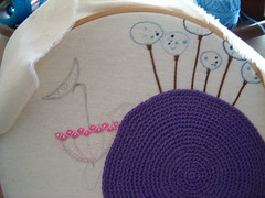 wipppppppp (rosaechocolat) Tags: embroidery wip algodo almofadas