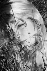 """""""The look"""" (J.K. NUKE) Tags: summer bw woman look model deep fields potrait 2007 aruna jknuke"""