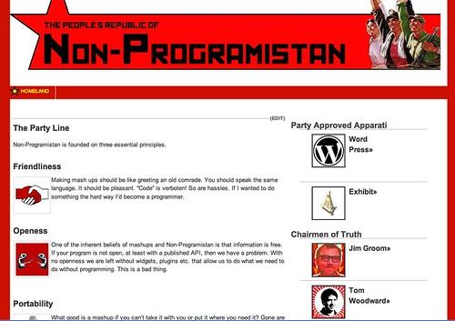 Image of Non-Programistan site
