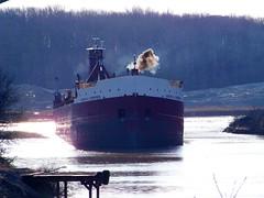In the Groove! (p.csizmadia) Tags: ohio black by river kodak tugboat tug ore barge departing freighter lorain squeezing greatlakesfreighter csizmadia kodakz812is pcsizmadia josephhthompson