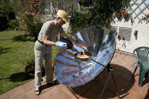 solar cooker and Javier