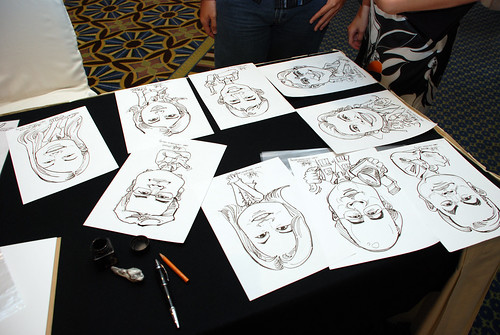 Caricature live sketching SIA Engineering 10