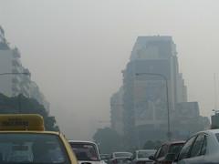 hasta que un da las tinieblas caern sobre nosotros (  pauli) Tags: calle buenosaires autos transito gardel humo trafico