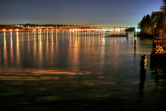 port mann bridge hdr (...Ashish...) Tags: longexposure vancouver canon river rebel nightshot fraser hdr portmann poco 25seconds 3exposures xti 400d thebestofday gnneniyisi
