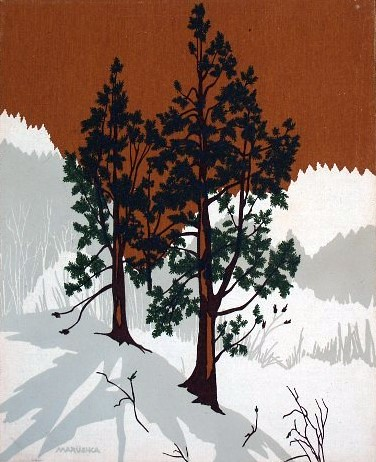 Marushka - pines in mountains (brown)