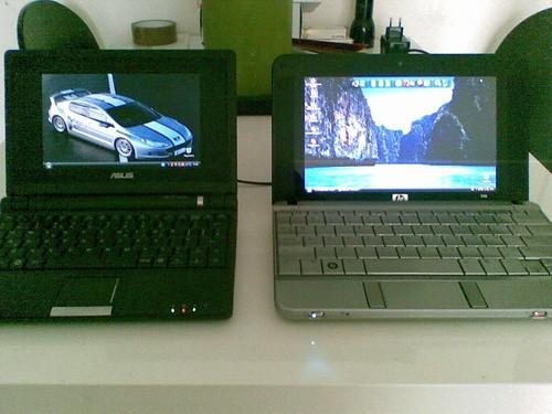 HP 2133 Bildschirm nebeneinander
