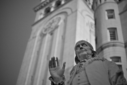 Benjamin Franklin, Statue at the Old Post Office, Washington DC, by Jacques Jouvenal