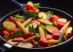 VegetableStirFry (fhansenphoto) Tags: food baby vegetables fry corn peas peppers carrots stir squah