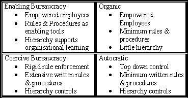 Organisational structures: davywavy