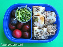 Mushroom pizza bento lunch for preschooler