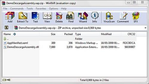 Archivo XAP sin el DLL