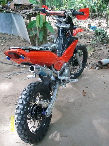 "modified @ ""75 modified shop"" camiguin island philippines. nice bike"