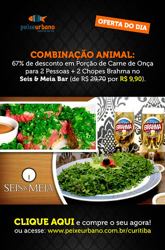 E-flyer - Seis & Meia, Peixe Urbano by chambe.com.br