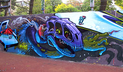 Raptor skeleton helmet (RABBIT EYE MOVEMENT) Tags: vienna street urban rabbit london eye art graffiti movement low vibes brow sobek kcis nychos