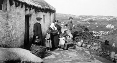 Nurse visiting a family on Arranmore Island, Co. Donegal (National Library of Ireland on The Commons) Tags: ireland chicken farmhouse children outdoors islands women basket cottage working health nurse stonewalls nurses donegal ulster hens creel arranmore districtnurse nationallibraryofireland congesteddistrictsboard