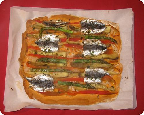 Después del horno - Coca de sardinas