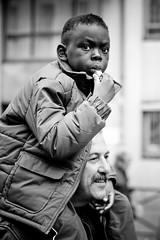 Demonstration - Parti Communiste Franais (34) - 27Oct07, Paris (France) (]) Tags: boy party portrait blackandwhite bw man paris kid published child sold communist demonstration pro pcf medias manifestation particommunistefranais