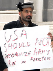 No Army Rule (MajeedBabar's Photos) Tags: pakistan media anp unitedstatesofamerica protest dictatorship pppp musharraf martiallaw humanrightsactivists pmln newyorkpakistaniconsulate