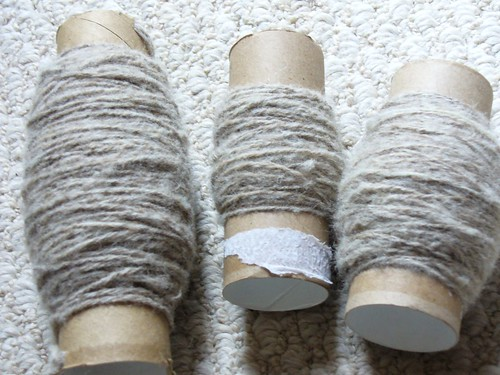 Shetland on drop spindle