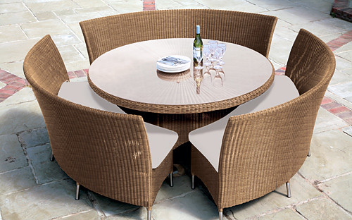 wicker furniture model swiss design