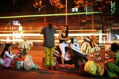 Saigon Street Life (elbeardo) Tags: street girls food girl fashion bike night long exposure colours sale vietnam shutter bags saigon seller