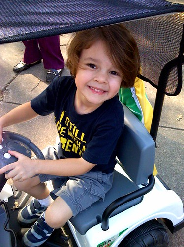Bubby and his golf cart