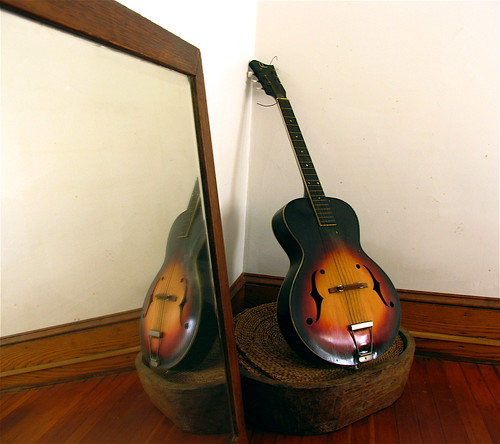 guitar and mirror