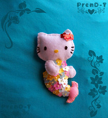 ♥ Hello Kitty Sirena ♥ (PrenD-T♥) Tags: cat hellokitty kitty gatos felt feltro fieltro