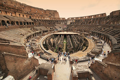 Colosseum - The Wide View (` Toshio ') Tags: sky italy rome roma building history clouds ancient europe italia roman colosseum amphitheater colloseum europeanunion gladiator vespasian toshio coloseo 25faves aplusphoto