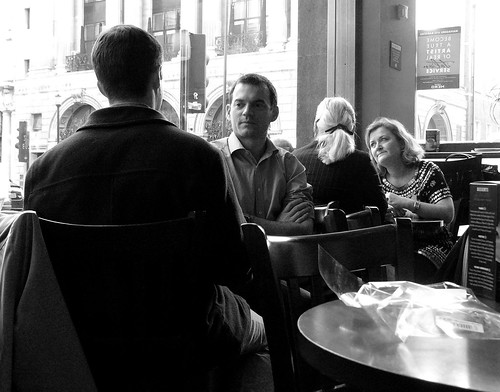 Conversation at Caffe (Source: ktylerconk)