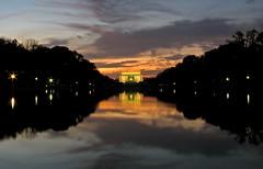lincoln memorial (sandcastlematt) Tags: longexposure sunset reflection washingtondc dc memorial dusk lincoln nationalmall lincolnmemorial dcist reflectingpool mywinners