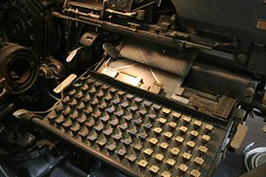 Etaoin Shrdlu (Depression Press) Tags: typewriter metal composition newspaper keyboard letters pica cast printing type slug letterpress press brass lead casting sentence linotype invention composing metaltype typesetting sorts matrices intertype shrdlu linecasting etaoin etaoinshrdluetaoinshr