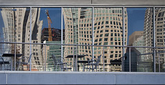 Ideas in Architecture (AGrinberg) Tags: sf sanfrancisco windows reflection gardens architecture buildings reflections chairs crane curves yerbabuena sfchronicle96hrs 9384architecture2