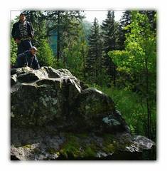 Marlo and Clemens  mountaineering (RuedisFotos) Tags: trekking germany deutschland baden schwarzwald blackforest wandern clemens wanderung marlo westweg crossingtheblackforest