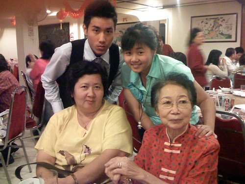 3rd Uncle's Wife, cousins Foo Keong and Pui Kuan and Grandma