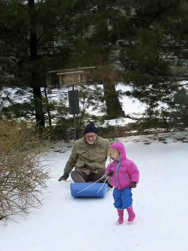 Sledding with Grandpa